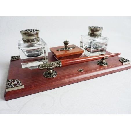 Caligrafía de madera Desk Set