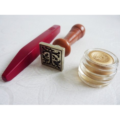 Gothic Wax Seal with Wooden Handle