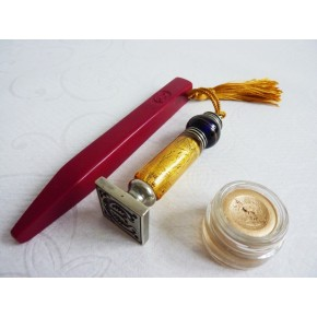 Glass Stamp and Wax Seal Set