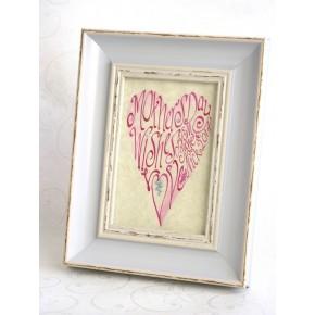 Äitienpäivä vaaleanpunainen sydän Kuva