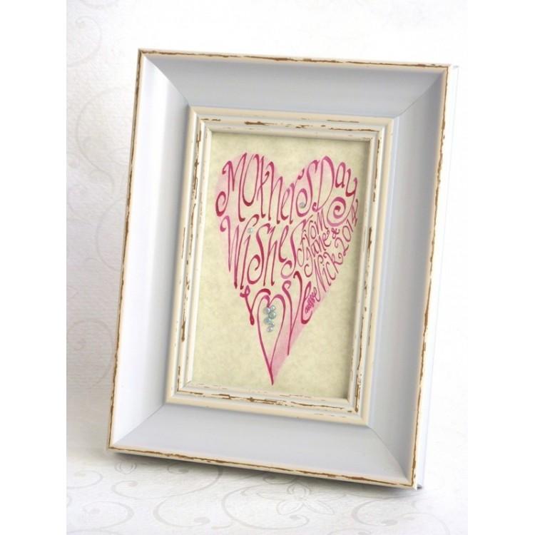 Mors dag rosa hjärta Bild
