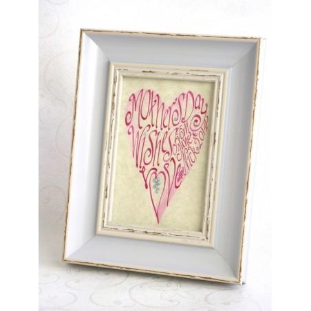 Día das nais-de-rosa retrato do corazón