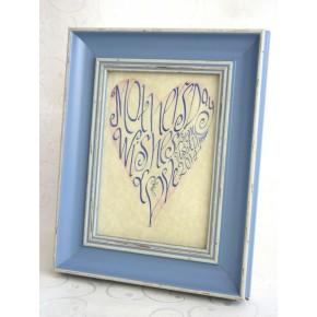 Muttertag - Blau Herz Bild