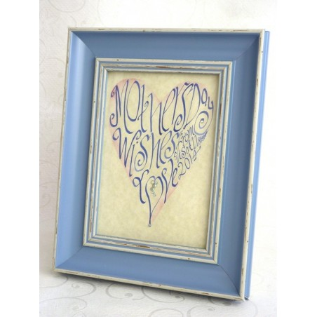 Día das Nais azul retrato do corazón