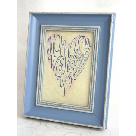 Fête des Mères - Coeur bleu Art