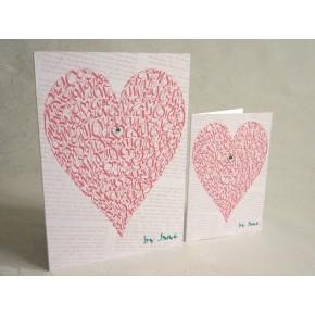 Kærlighed hjerte - Vintage Rose