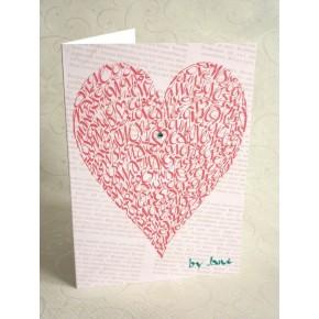 Älska hjärta - ros