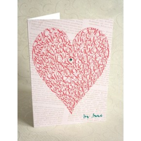 Älska hjärta - Vintage Rose