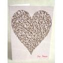 Älska hjärta - Vintage Choklad