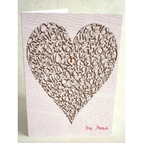 Rakkaus sydän - suklaa
