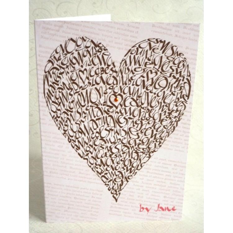 Älskar hjärta - choklad