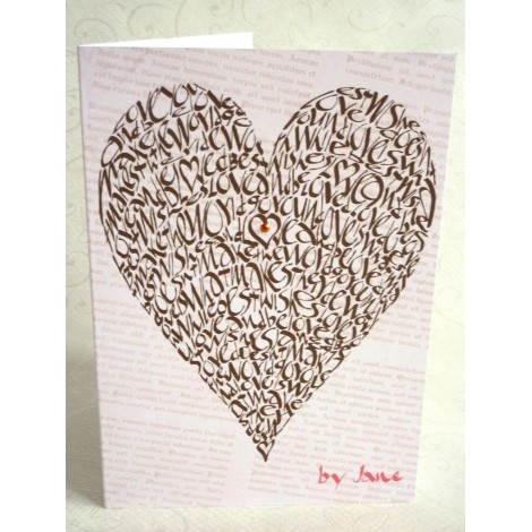 Love Heart - Vintage Chocolate