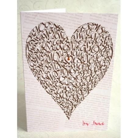 Corazón del amor - Chocolate Vintage