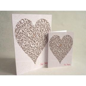 Rakkaus Heart - Vintage Chocolate