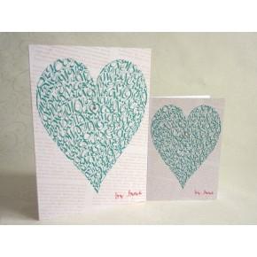 Älska hjärta - Vintage Grön