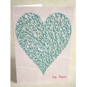 Love Heart - Vintage Green
