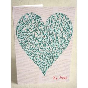 Älska hjärta - Grön
