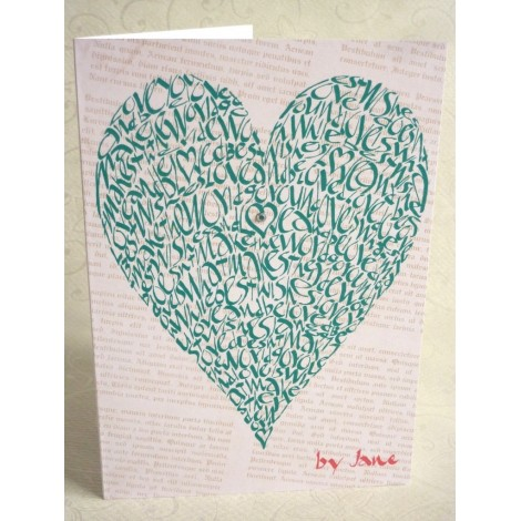 Liebe Herz - Grün