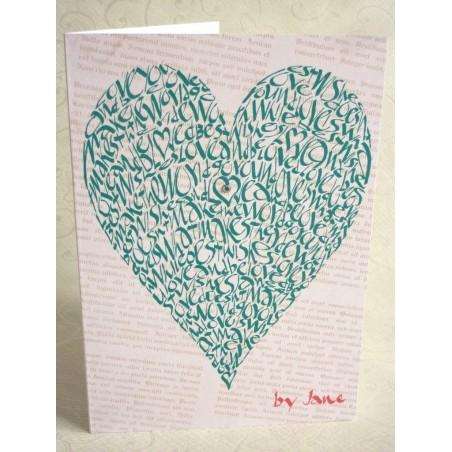 Corazón do amor - verde vintage