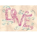 Vintage Kærlighed Swirls Card