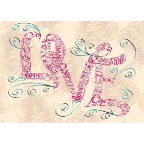 Vintage Love Swirls Card