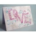 Vintage Love Swirls Card