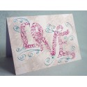 Vintage Rakkaus Swirls Card