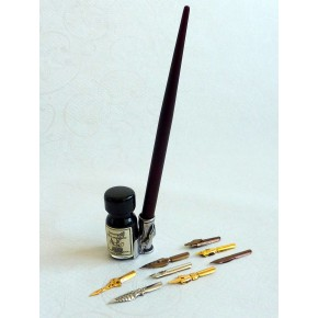 Wooden calligraphy pen