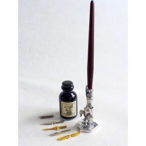 Juego de bolígrafos de caligrafía - madera - peltre