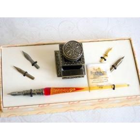 Glass Caligrafía Pen Set - Gold Leaf