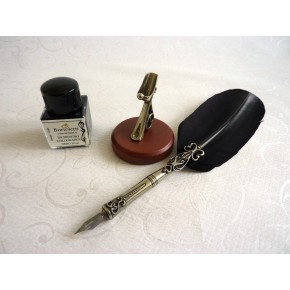 Feather Dip Pen Five Nibs Pen Holder