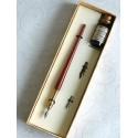 Puu ja Brass kalligrafiaa Dip Pen ja Ink