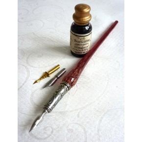 Copper Glass Calligraphy Pen Ink
