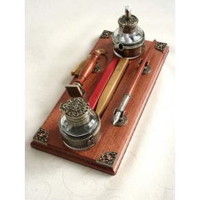 Holz Kalligraphie Pen & Wax Seal Schreibtisch-Set
