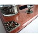 Madera Caligrafía pluma y sello de la cera Desk Set