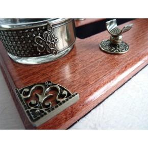 Wooden Kalligrafi Pen & laksegl Desk Set