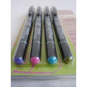 4 Färg Pack kursiv Marker - Bred