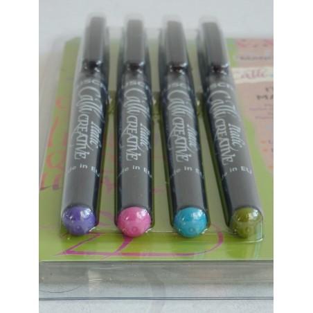 4 Farbe VE Italic Marker - Fein