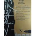 4 Color Embalatge cursiva Marker - Fine