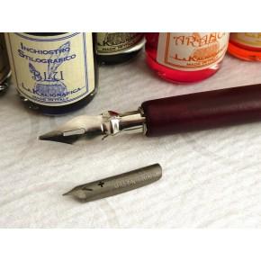 Trä Dip Pen 8 bläck och 2 Nibs