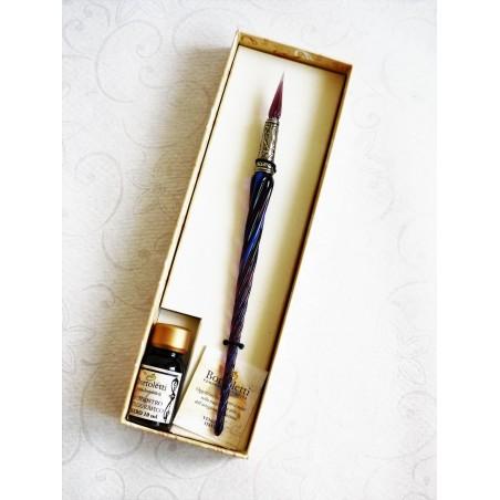 Contorto vetro Calligrafia Penna con vetro Pennino
