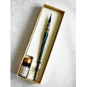 Twisted Glass Calligraphy Pen with Glass Nib