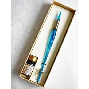 Vridt kalligrafipenn och glasspets