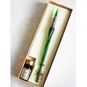 Twisted Lasi kalligrafiakynän Glass kynänpääpainiketta