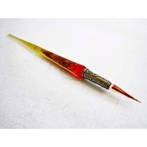 Gold leaf glass pen with glass nib