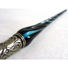 Glas kalligrafi pen og blæk med snoet glas