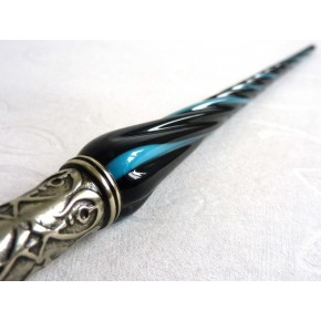Glass Calligraphy Pen & Ink - Twisted Glass
