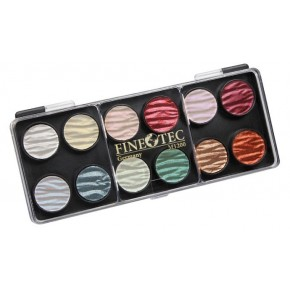 12 pearl colour ink palette 23mm
