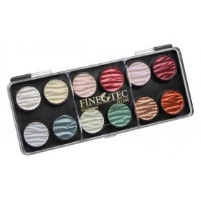 12 perlas paleta de cores de pintura 23mm