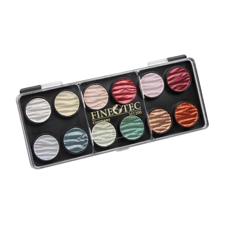 12 perles encre couleur palette 23mm